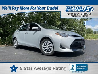 2019 Classic Silver Metallic Toyota Corolla LE 4 Door L4, 1.8L Engine Automatic Car