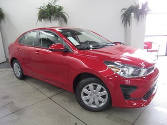 2021 Currant Red Kia Rio S 4 Door 1.6 liter 4 Cylinder Engine FWD Automatic