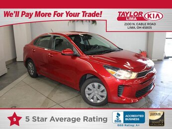 2020 Currant Red Kia Rio S Car FWD 4 Door 1.6 liter 4 Cylinder Engine Automatic