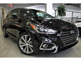 2021 Absolute Black Hyundai Accent Limited 4 Door Automatic FWD Car