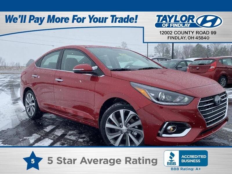 2021 Pomegranate Red Hyundai Accent Limited Automatic Car 4 Door
