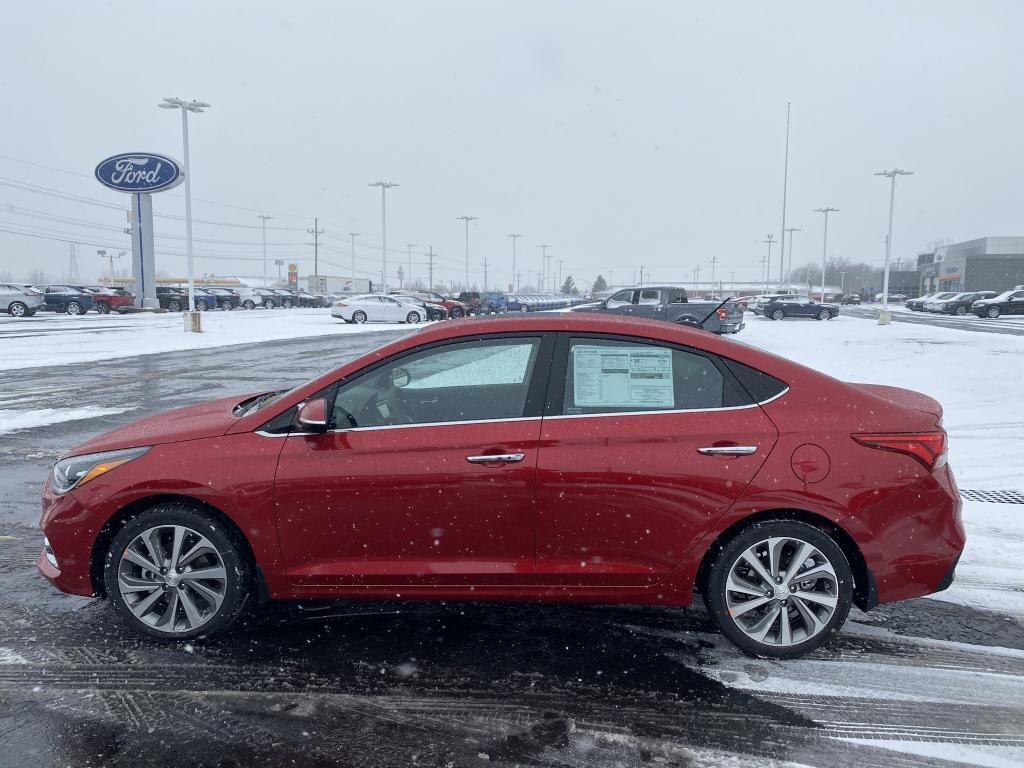 2021 Pomegranate Red Hyundai Accent Limited 1.6 liter 4 Cylinder Engine Automatic 4 Door Car