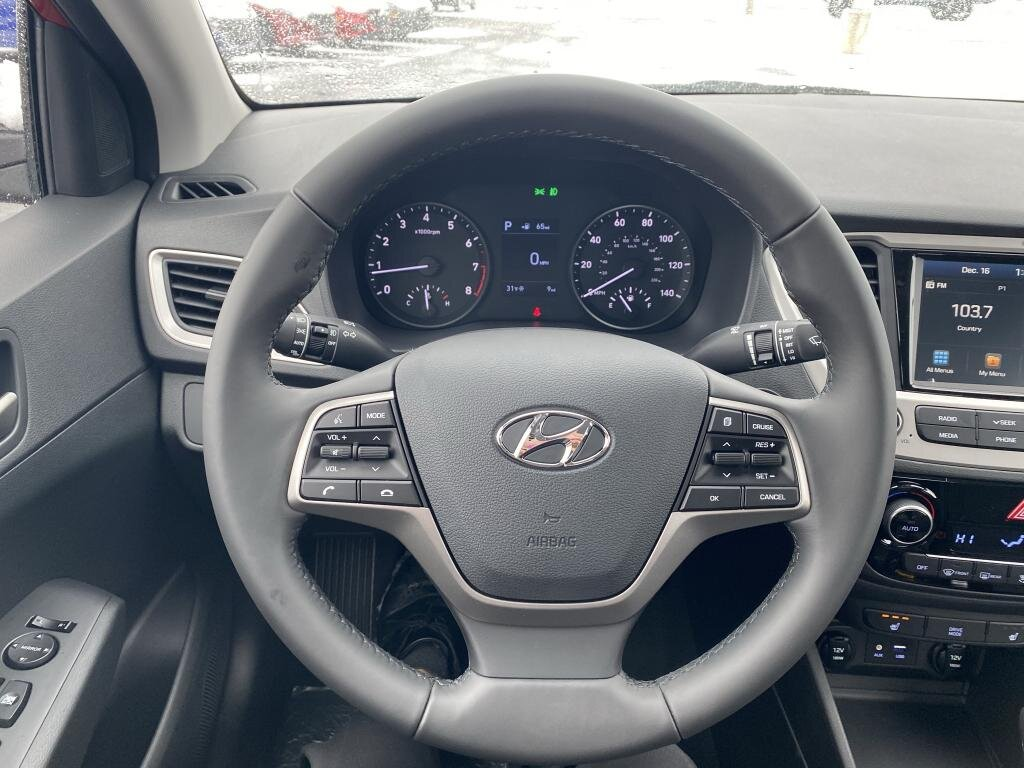 2021 Pomegranate Red Hyundai Accent Limited 1.6 liter 4 Cylinder Engine Automatic FWD