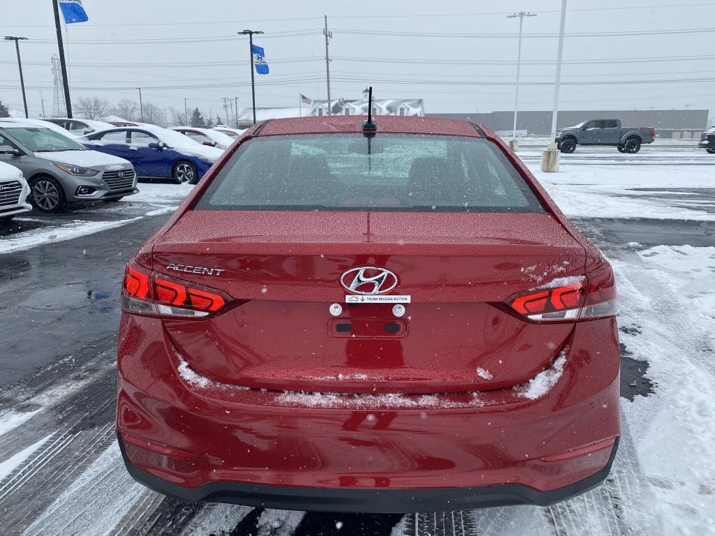 2021 Pomegranate Red Hyundai Accent Limited Automatic 4 Door 1.6 liter 4 Cylinder Engine Car FWD