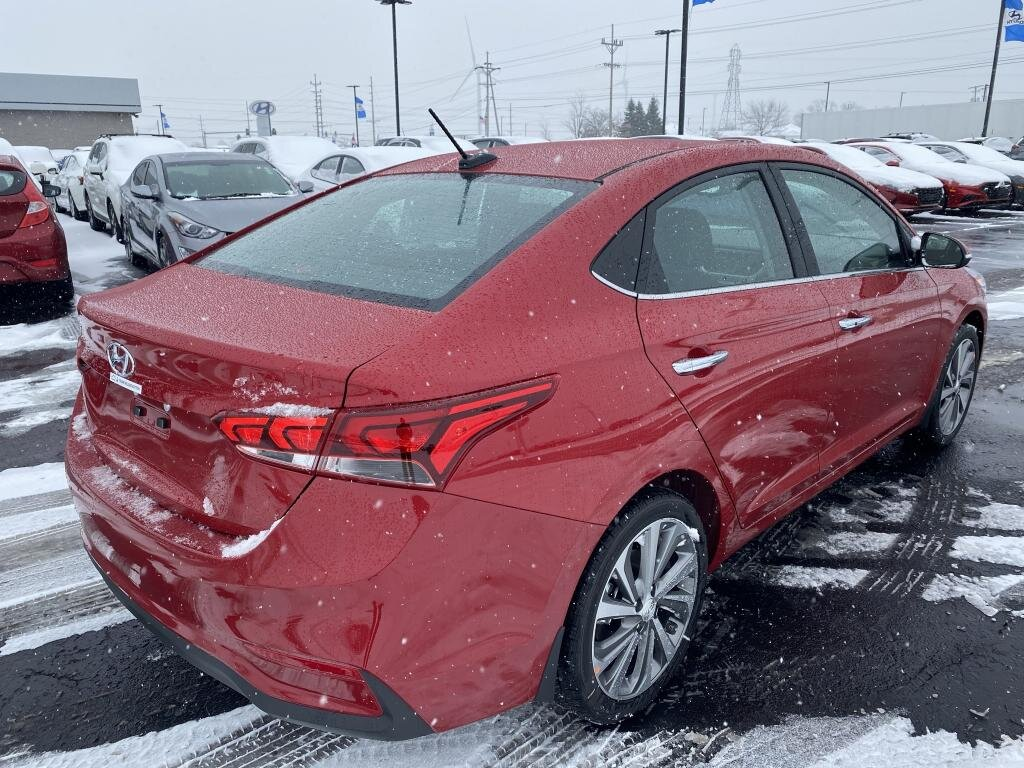 2021 Pomegranate Red Hyundai Accent Limited Car 1.6 liter 4 Cylinder Engine Automatic