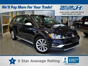 2017 Night Blue Metallic Volkswagen Golf Alltrack SEL Crossover AWD 4 Door 1.8 liter 4 Cylinder Engine