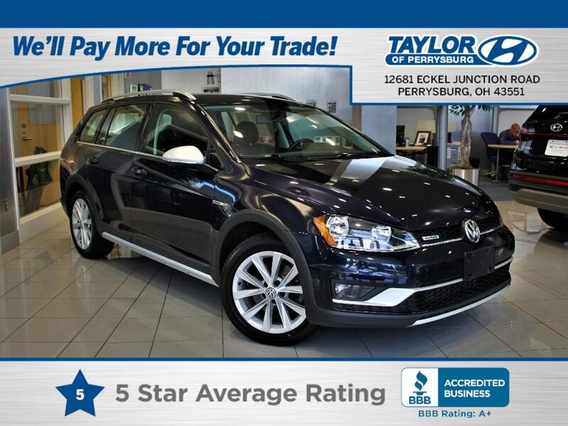 2017 Night Blue Metallic Volkswagen Golf Alltrack SEL AWD Automatic 4 Door