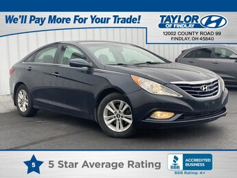 2013 Pacific Blue Pearl Hyundai Sonata GLS PZEV 4 Door Car 2.4 liter 4 Cylinder Engine Automatic