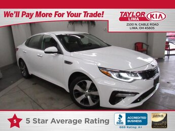 2020 Snow White Pearl Kia Optima S L4, 2.4L Engine Car Automatic 4 Door