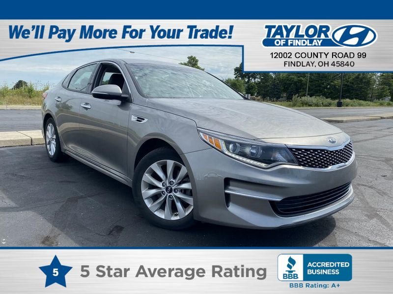 2018 Titanium Silver Kia Optima EX Sedan FWD Automatic