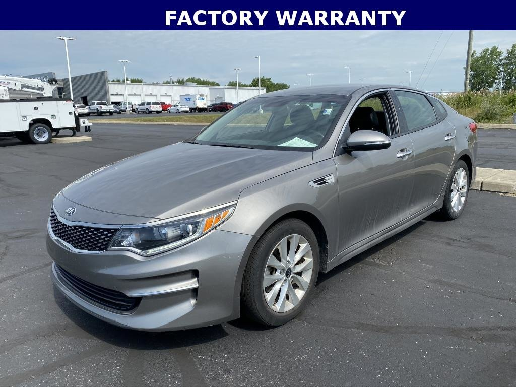 2018 Titanium Silver Kia Optima EX FWD Automatic 4 Door Sedan