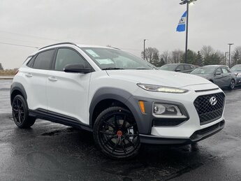 2021 Chalk White Hyundai Kona NIGHT AWD Automatic 1.6 liter 4 Cylinder Engine 4 Door