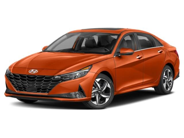 2021 Lava Orange Hyundai Elantra Limited FWD 4 Door Car