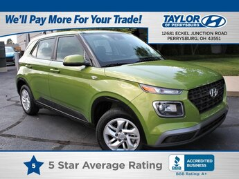 2021 Green Apple Hyundai Venue SE Automatic 1.6 liter 4 Cylinder Engine FWD