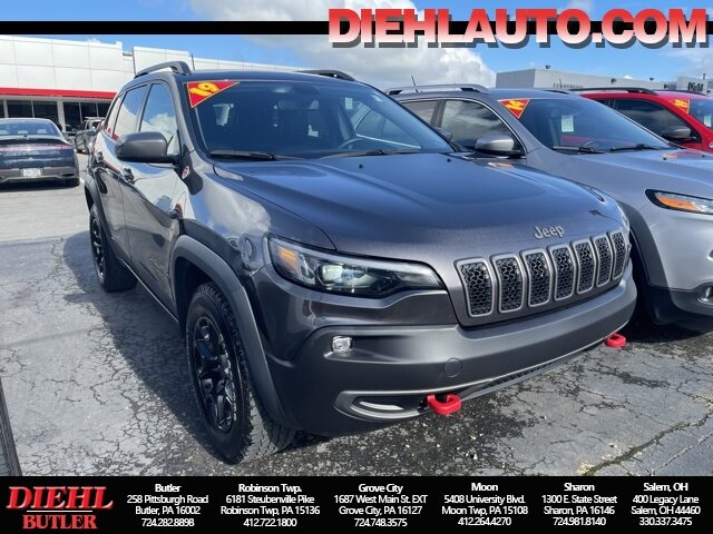 2019 Granite Crystal Metallic Clearcoat Jeep Cherokee Trailhawk 4 Door 3.2L V6 Engine SUV