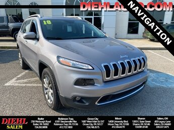 2018 Billet Silver Metallic Clearcoat Jeep Cherokee Limited 2.4L I4 Engine Automatic 4 Door SUV 4X4