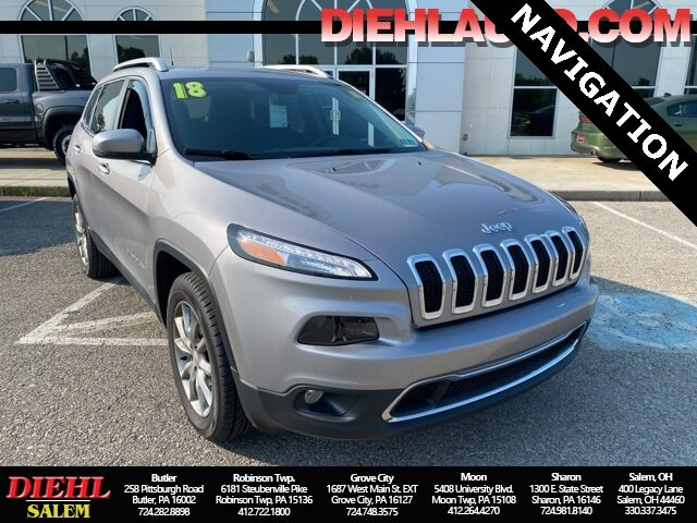 2018 Jeep Cherokee Limited Automatic 4 Door 2.4L I4 Engine SUV 4X4