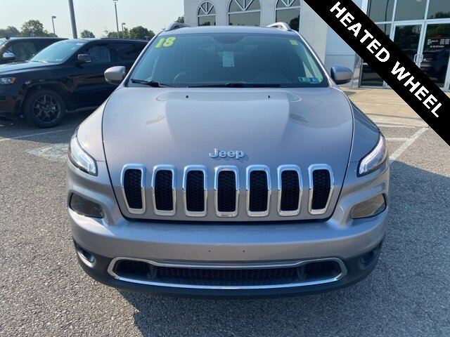 2018 Billet Silver Metallic Clearcoat Jeep Cherokee Limited 2.4L I4 Engine SUV Automatic 4X4