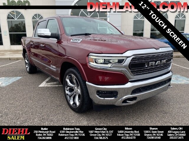 2020 Delmonico Red Pearlcoat Ram 1500 Limited 4 Door Truck Automatic HEMI 5.7L V8 Multi Displacement VVT Engine 4X4