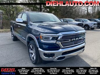 2021 Patriot Blue Pearlcoat Ram 1500 Laramie Automatic HEMI 5.7L V8 Multi Displacement VVT eTorque Engine Truck