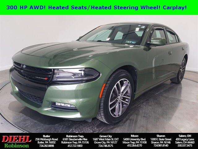 2019 F8 Green Dodge Charger SXT Automatic 3.6L V6 Flex Fuel 24V VVT Engine Sedan 4 Door AWD