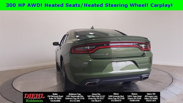 2019 F8 Green Dodge Charger SXT 4 Door Sedan AWD 3.6L V6 Flex Fuel 24V VVT Engine Automatic