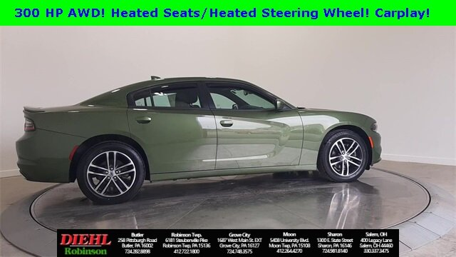 2019 F8 Green Dodge Charger SXT 3.6L V6 Flex Fuel 24V VVT Engine Sedan AWD Automatic