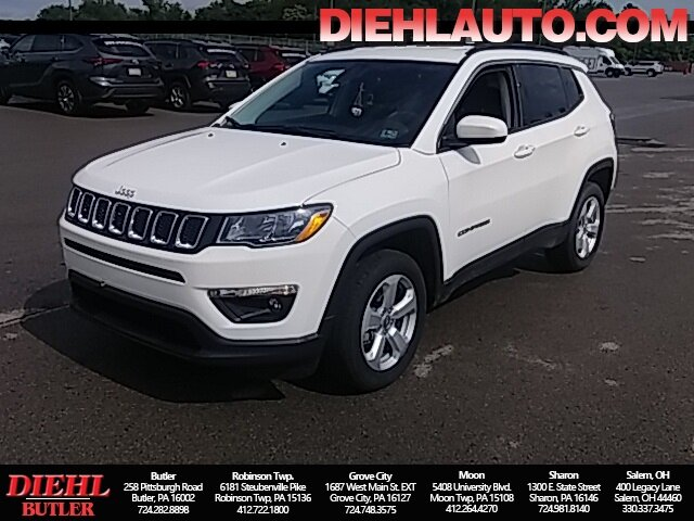 2020 White Clearcoat Jeep Compass Latitude 4X4 Automatic 2.4L I4 Engine SUV