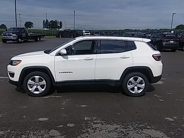2020 White Clearcoat Jeep Compass Latitude 2.4L I4 Engine 4 Door Automatic 4X4