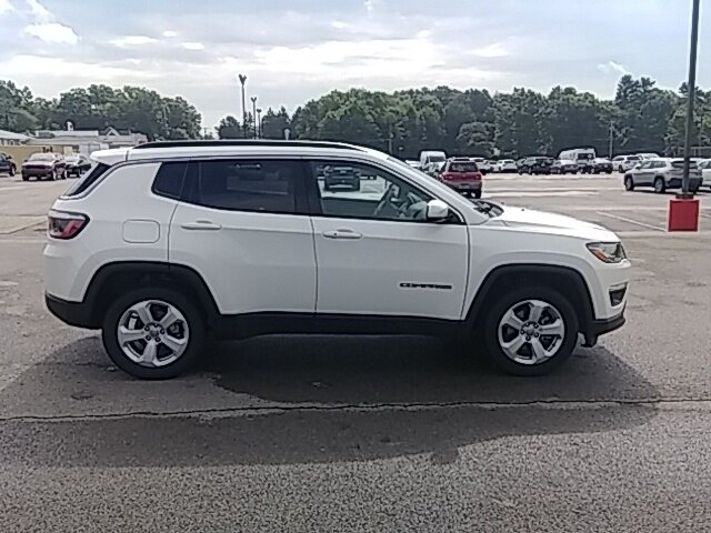 2020 White Clearcoat Jeep Compass Latitude Automatic SUV 2.4L I4 Engine 4X4