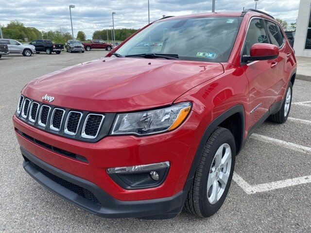 2021 Redline Pearlcoat Jeep Compass Latitude 2.4L I4 Engine 4X4 Automatic SUV 4 Door