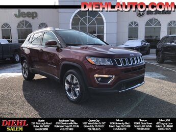 2021 Velvet Red Pearlcoat Jeep Compass Limited Automatic 4 Door SUV