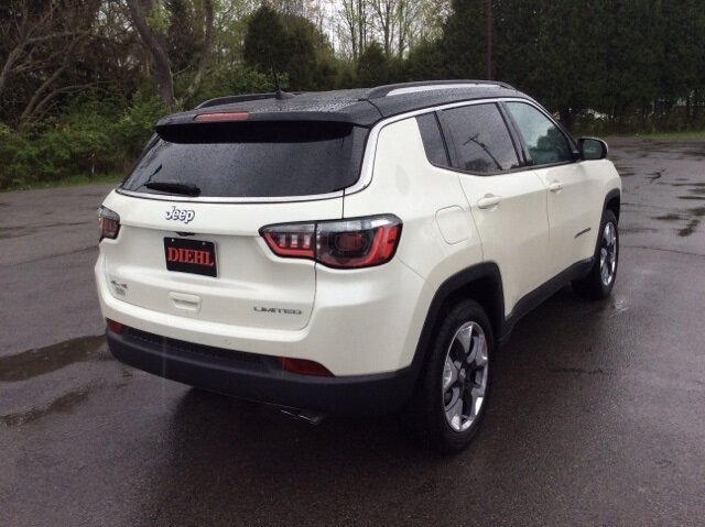 2021 Pearl White Tri-Coat Jeep Compass Limited SUV Automatic 4X4