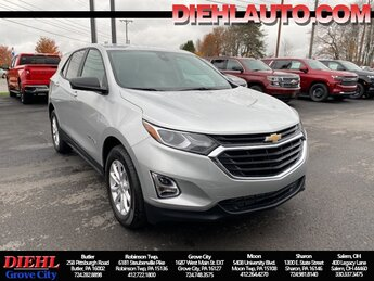 2021 Silver Ice Metallic Chevrolet Equinox LS 1.5L DOHC Engine SUV FWD Automatic