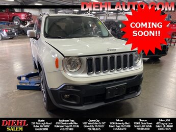 2015 Alpine White Jeep Renegade Limited 4X4 SUV 2.4L I4 MultiAir Engine Automatic 4 Door