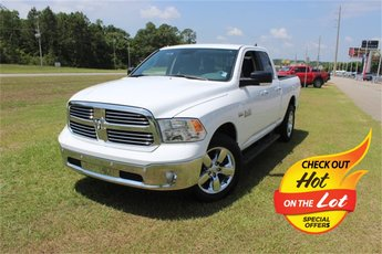 2018 Bright White Clearcoat Ram 1500 Big Horn HEMI 5.7L V8 Multi Displacement VVT Engine Automatic 4 Door Truck