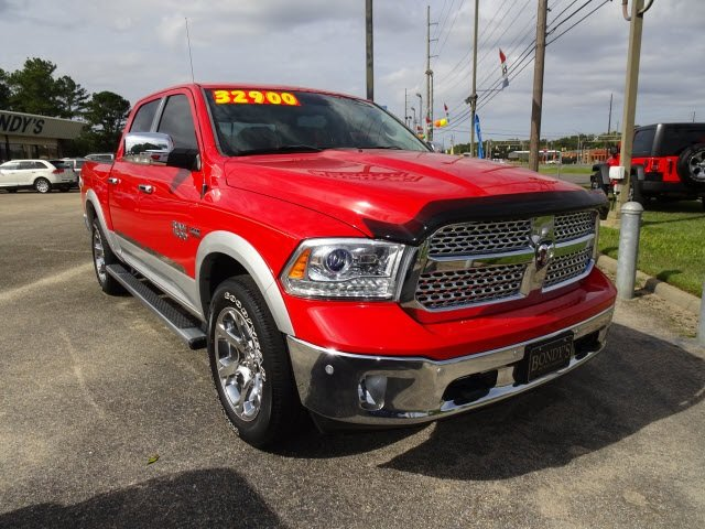 2016 Bright Red Ram 1500 Laramie 4X4 4 Door Truck HEMI 5.7L V8 Multi Displacement VVT Engine