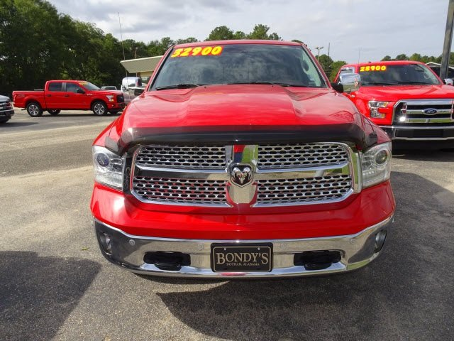2016 Bright Red Ram 1500 Laramie HEMI 5.7L V8 Multi Displacement VVT Engine 4 Door Truck