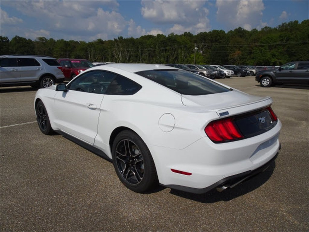 2020 Oxford White Ford Mustang EcoBoost EcoBoost 2.3L I4 GTDi DOHC Turbocharged VCT Engine RWD Coupe