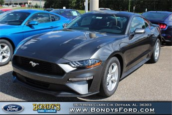 2019 Magnetic Metallic Ford Mustang EcoBoost EcoBoost 2.3L I4 GTDi DOHC Turbocharged VCT Engine Coupe RWD