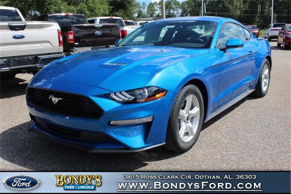 2019 Blue Ford Mustang EcoBoost Coupe 2 Door RWD EcoBoost 2.3L I4 GTDi DOHC Turbocharged VCT Engine Automatic