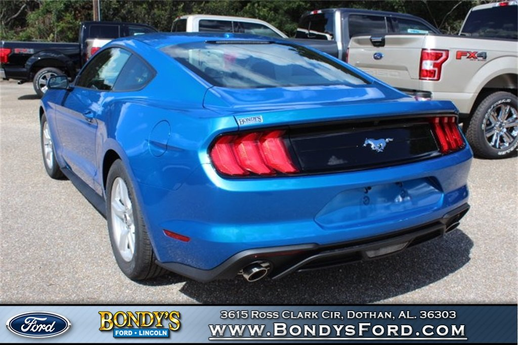 2019 Blue Ford Mustang EcoBoost Coupe EcoBoost 2.3L I4 GTDi DOHC Turbocharged VCT Engine RWD