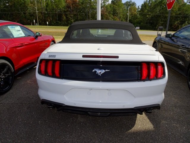 2019 Oxford White Ford Mustang EcoBoost Premium RWD 2 Door Convertible Automatic