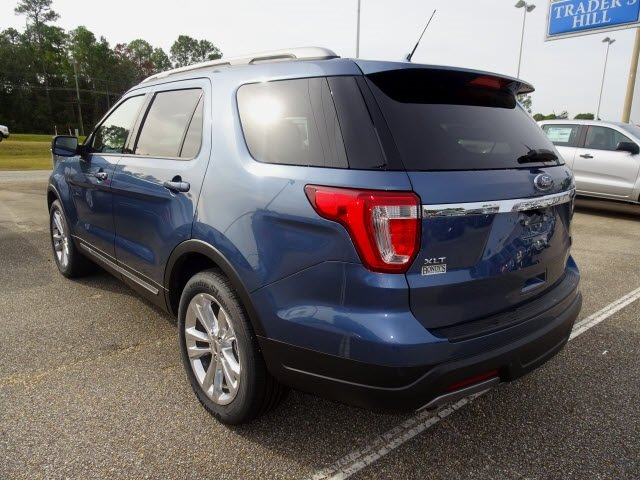 2019 Blue Metallic Ford Explorer XLT Automatic 3.5L V6 Ti-VCT Engine SUV 4 Door FWD