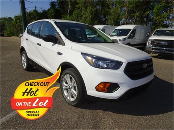 2018 Oxford White Ford Escape S Automatic 2.5L i-VCT Engine FWD 4 Door SUV