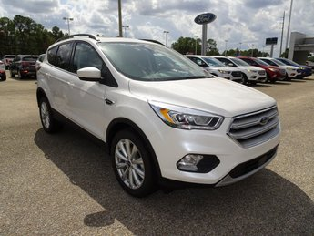 2019 White Platinum Clearcoat Metallic Ford Escape SEL FWD Automatic 4 Door EcoBoost 1.5L I4 GTDi DOHC Turbocharged VCT Engine