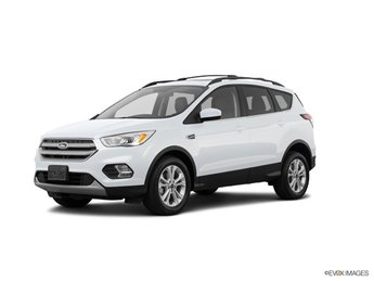 2019 White Platinum Clearcoat Metallic Ford Escape SEL EcoBoost 1.5L I4 GTDi DOHC Turbocharged VCT Engine Automatic SUV FWD