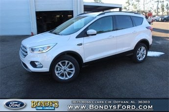 2019 White Platinum Metallic Tri-Coat Ford Escape SEL SUV EcoBoost 1.5L I4 GTDi DOHC Turbocharged VCT Engine Automatic 4 Door FWD