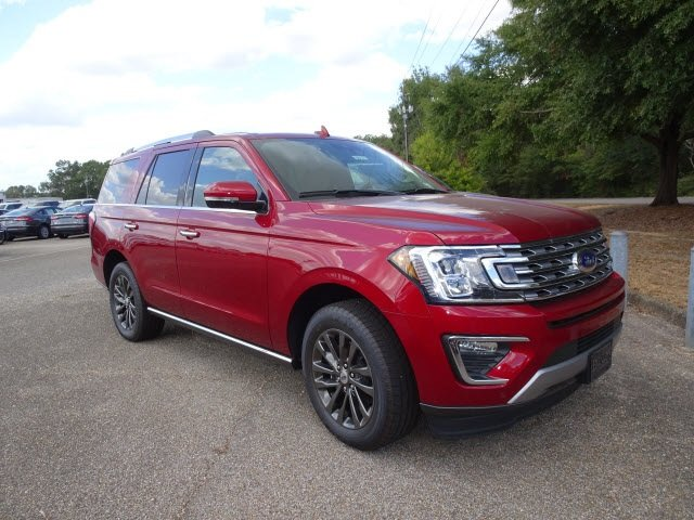 2019 Ruby Red Metallic Ford Expedition Limited Automatic EcoBoost 3.5L V6 GTDi DOHC 24V Twin Turbocharged Engine RWD SUV 4 Door