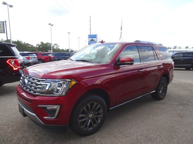 2019 Ruby Red Metallic Ford Expedition Limited 4 Door Automatic EcoBoost 3.5L V6 GTDi DOHC 24V Twin Turbocharged Engine SUV